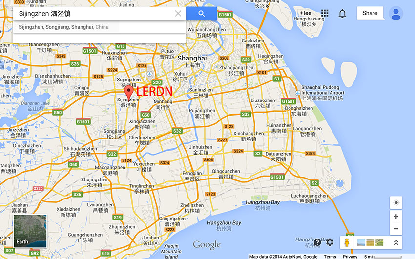 LERDN在上海的位置